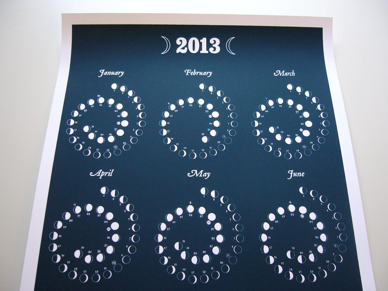 Moon Phases Calendar 2013