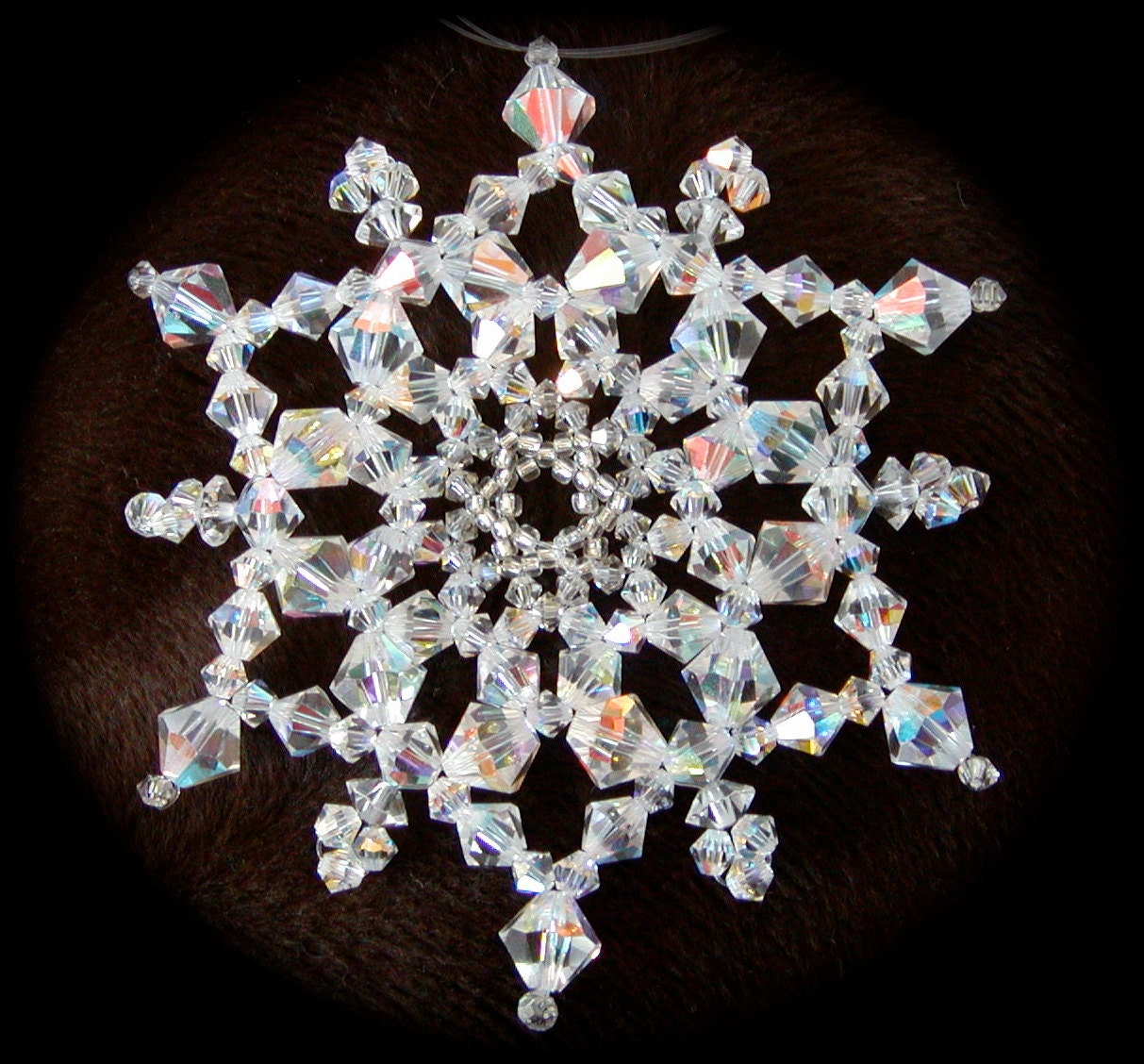 crystal snowflake ornament tutorial jdc030 by joyharmondesigns
