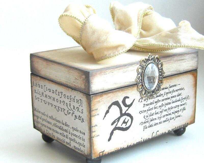 Trinket Keepsake Box Wedding White
