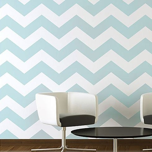 Chevron allover stencil large scale by cuttingedgestencils Design patterns wall painting