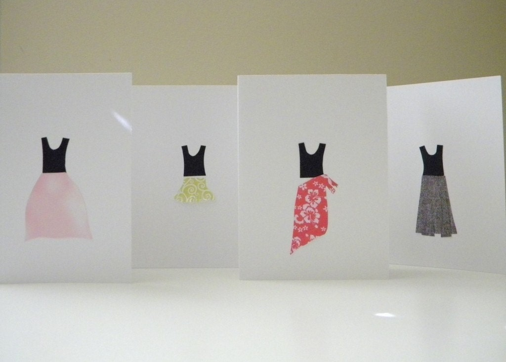 seasonal skirt note cards:
