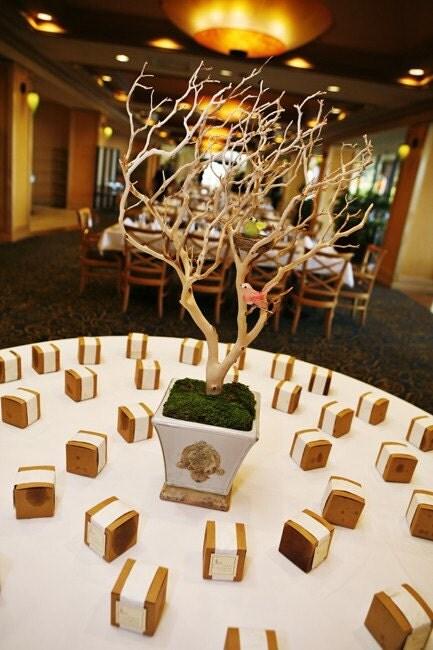 Tall Manzanita Branch Crystal Trees wedding crystal tree centerpieces