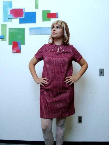 SALE Vintage 70's Brady Bunch Dress Size L/XL