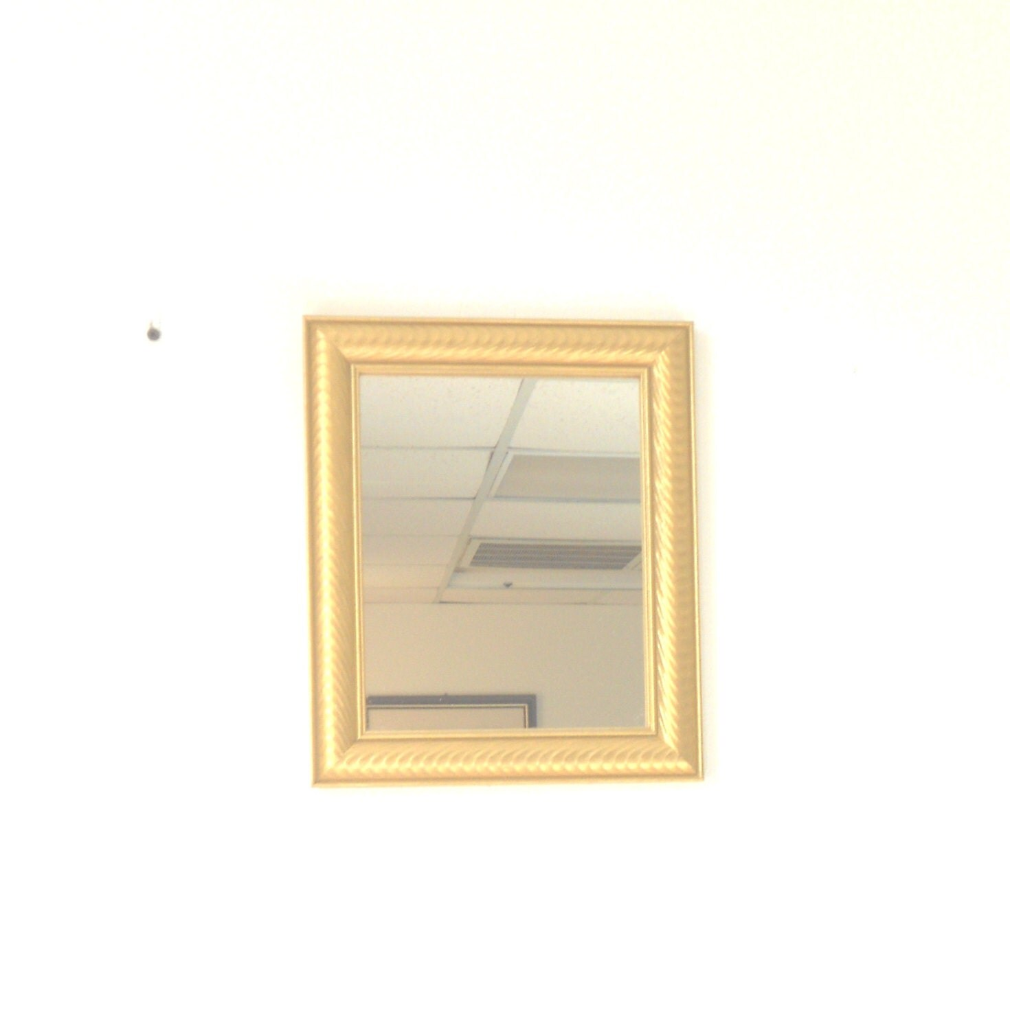 Popular items for small gold mirrors on etsy for Small gold framed mirrors