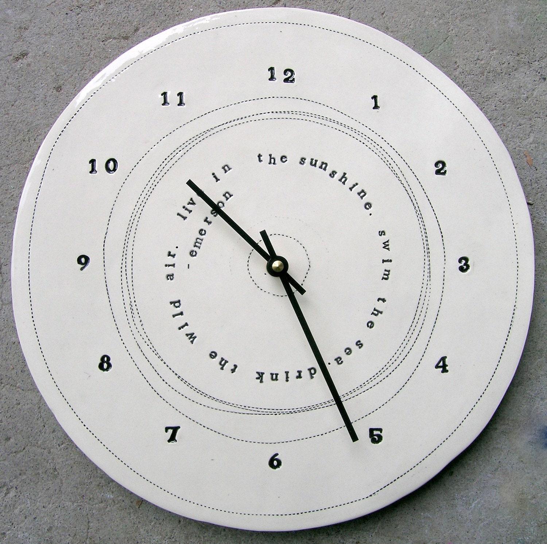 11.75 emerson quote clock.