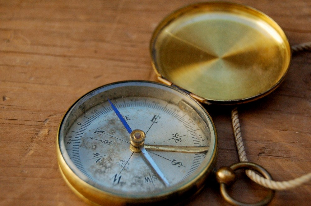Vintage French Pocket Compass By Aisle5 On Etsy