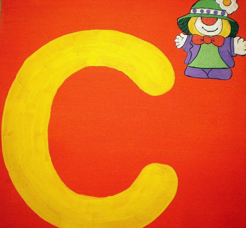 C is for Clown 10X10 ORIGINAL