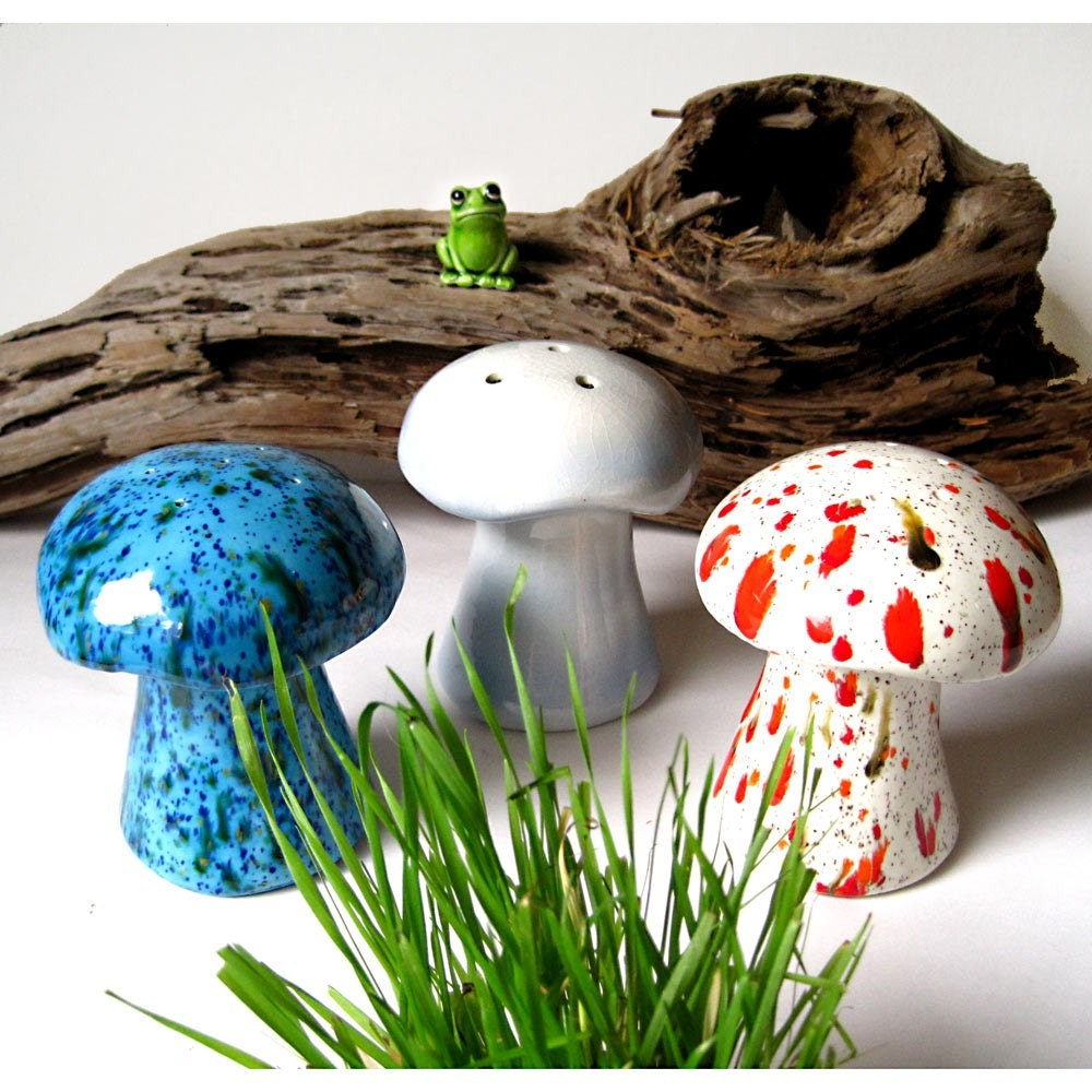 Instant Collection 3 Vintage Ceramic Mushrooms By