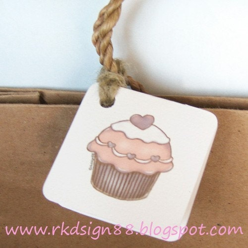 rkdsign88.blogspot.com etsy cupcake gift label candy printable pdf painting drawing art print cute whimsical reproduction tag notecard