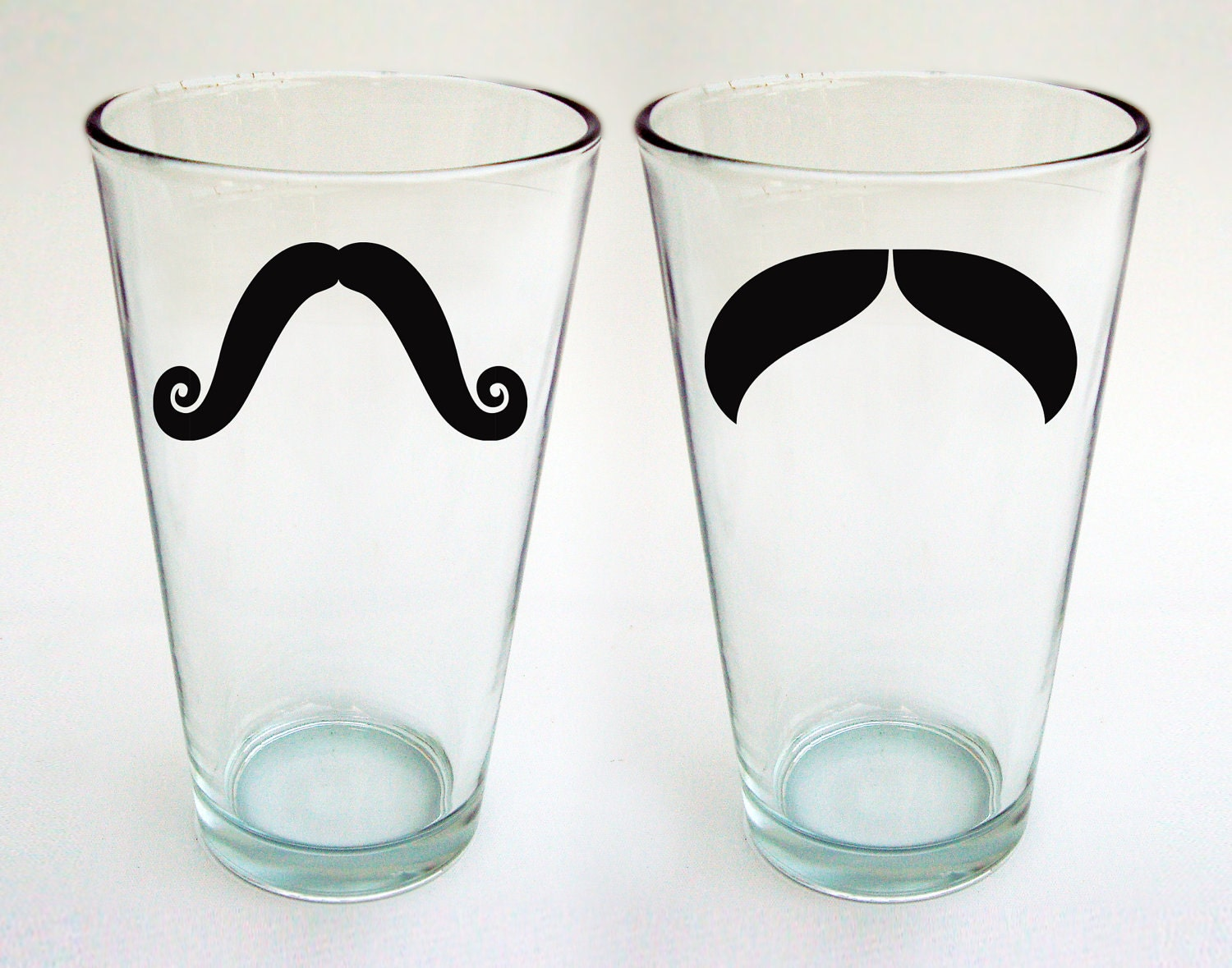 Moustache Pint Glasses - Ready to Ship - (set of 4)