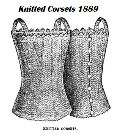 to Knitted corsets 1889 Victorian Knitting Pattern PDF antique on Etsy