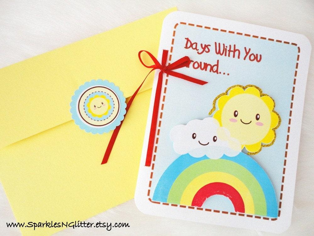 Days With You Around - Kawaii 3D Card