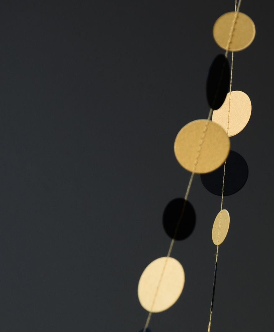 Christmas decor - Black and Gold Shimmer garland -  21 color option / UNLIMITED color combo - CoutureByAyca