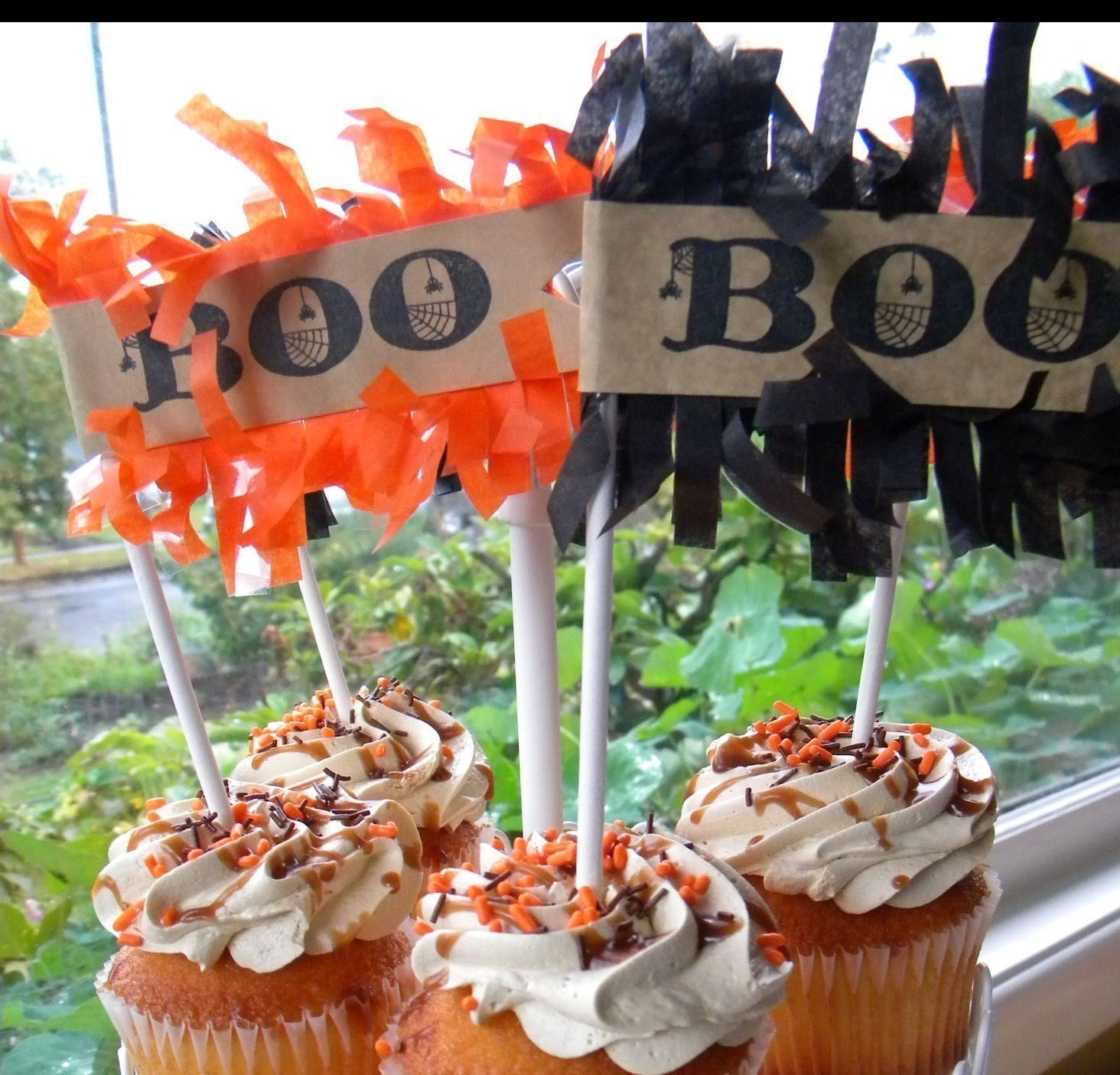 Halloween Cupcake Toppers...set of 12