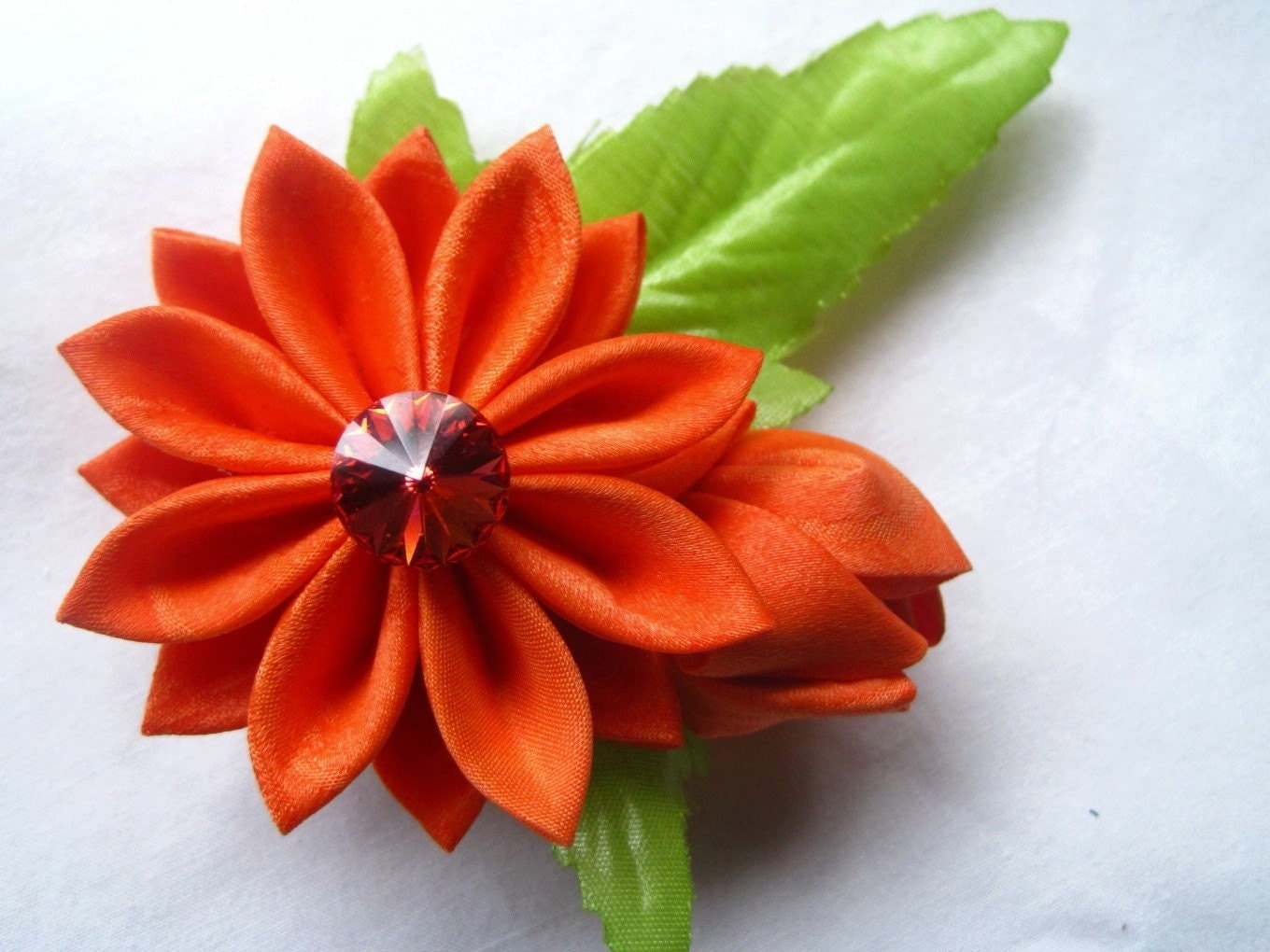 Shop Etsy Fabric flowers in orange