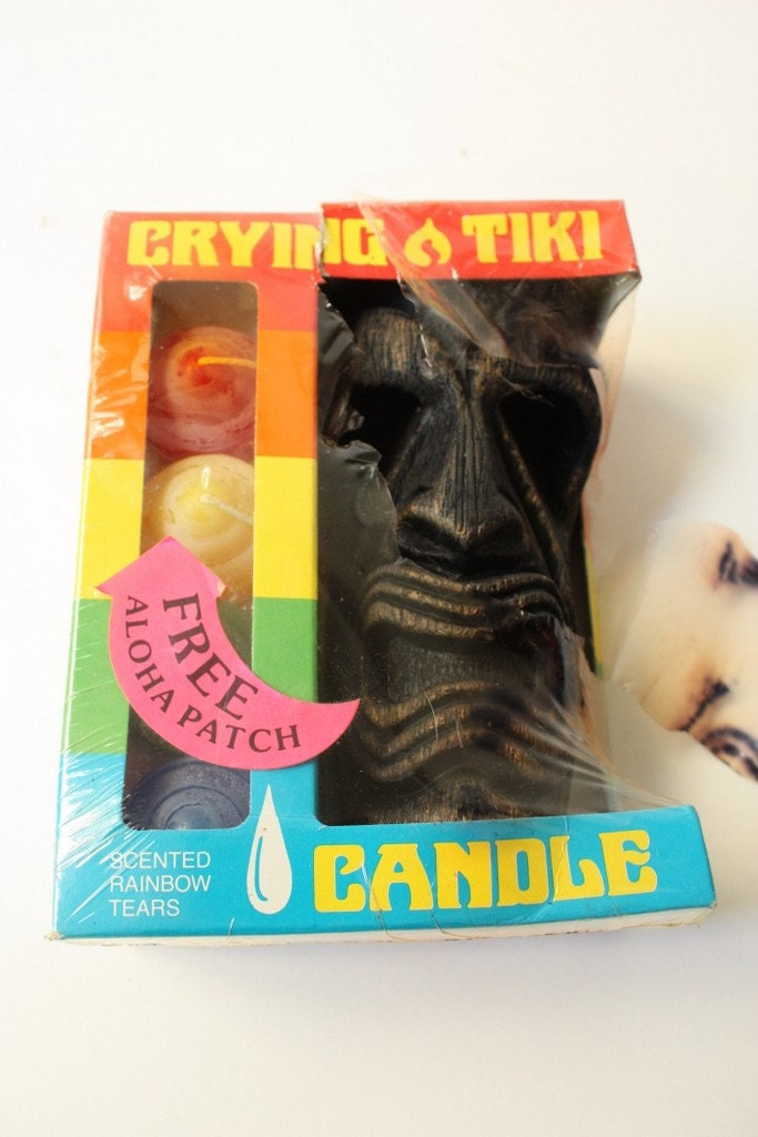 Vintage Tiki Crying Candle 1960s Kitsch By Sevenbc On Etsy