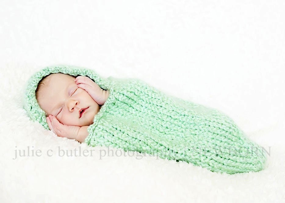 Knit Baby Cocoon / Photography Prop In An Assortment of Colors