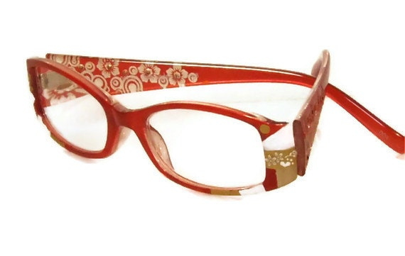 reading glasses 100 strength handpainted in by