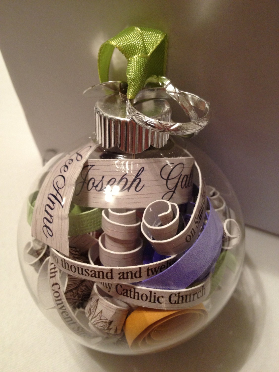 Personalized Keepsake And Box Using Your Wedding by MonAmiePaperie