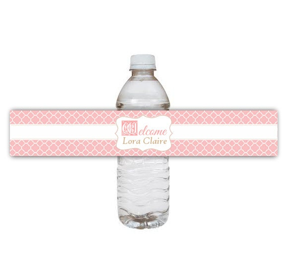Baby Shower Water Bottle Labels Template Matching baby shower ...