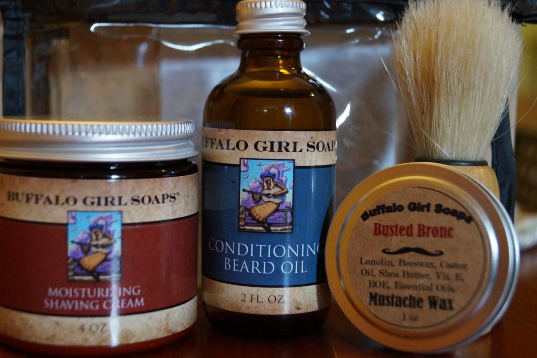 men 39 s grooming travel kit shaving starter kit by buffalogirlsoaps. Black Bedroom Furniture Sets. Home Design Ideas