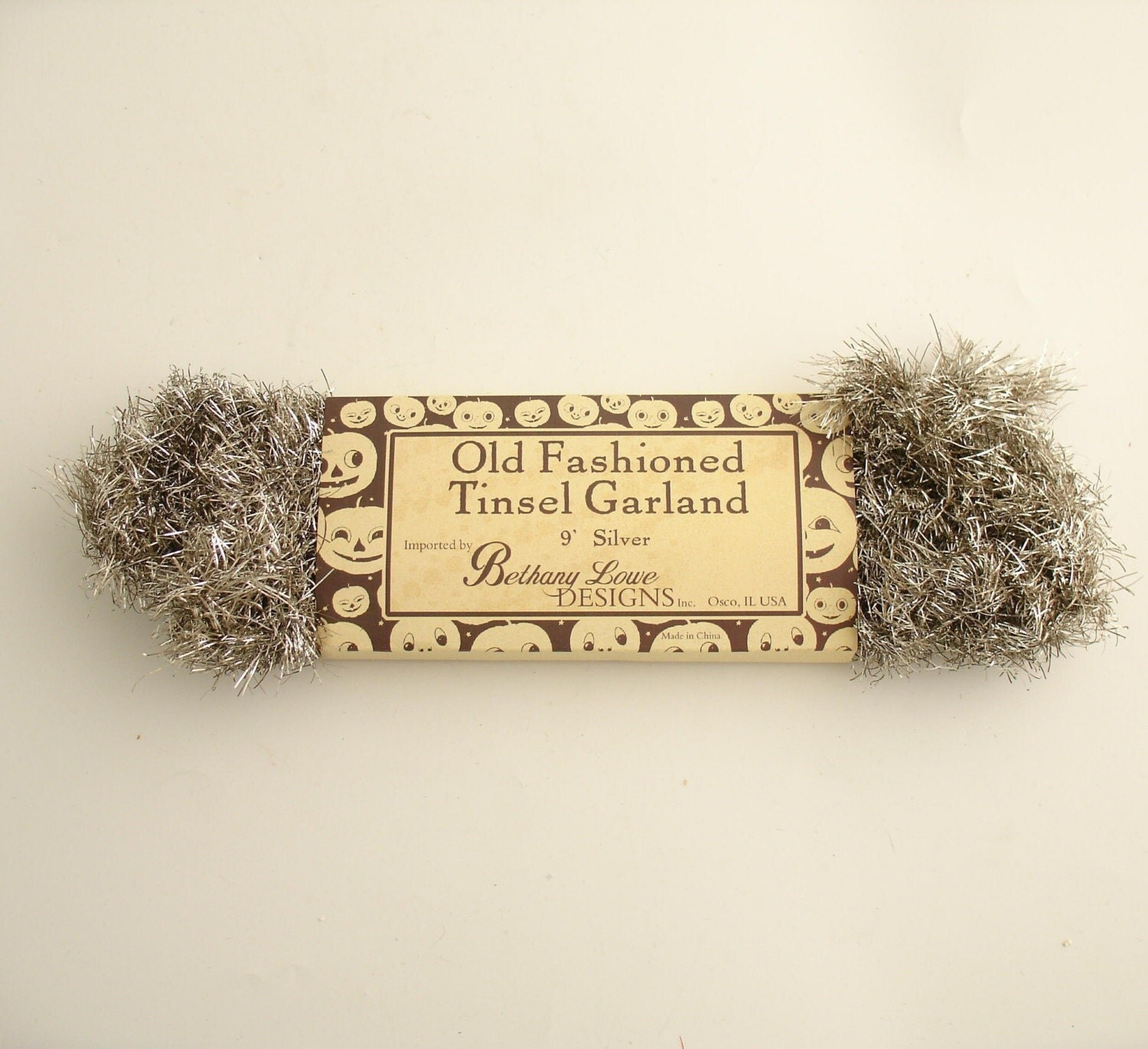 Silver tinsel garland vintage style christmas by efinegifts