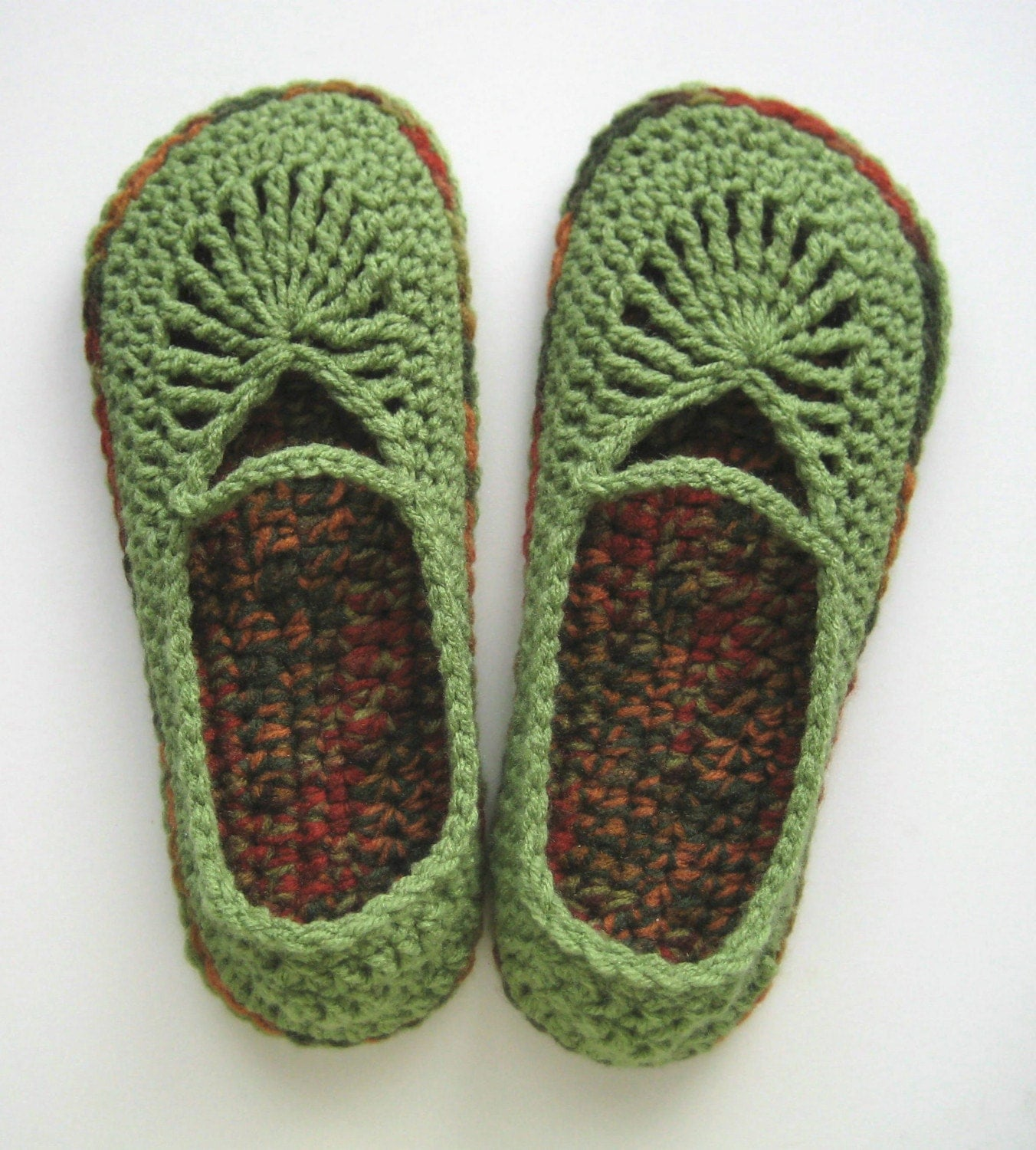 Adult Crochet Mary Jane Skimmers Slippers Tea Leaf and by ...