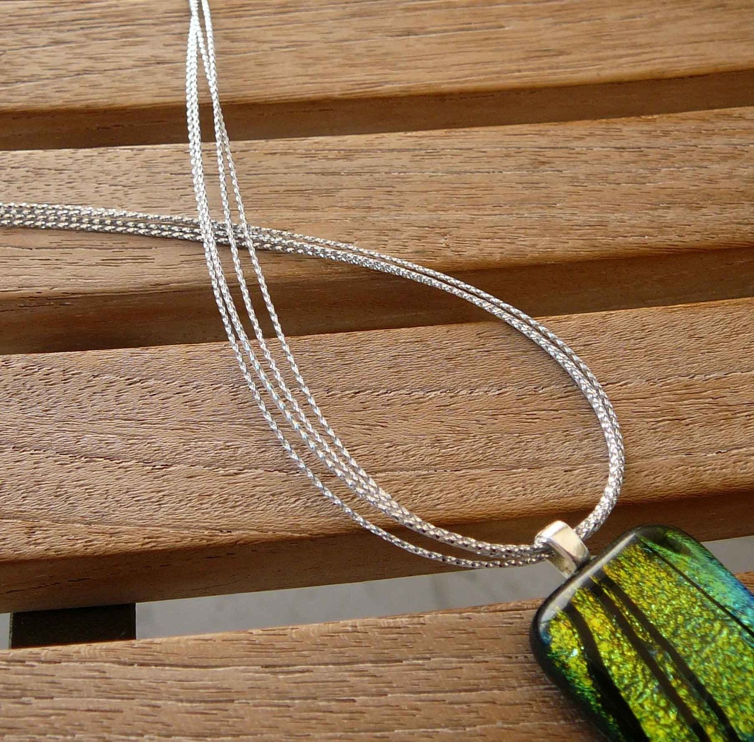 12 - Multi Strand Silver Metalic Necklace Cords - Any Length - Use w/Scrabble/Glass Tile Pendants-Handmade in USA