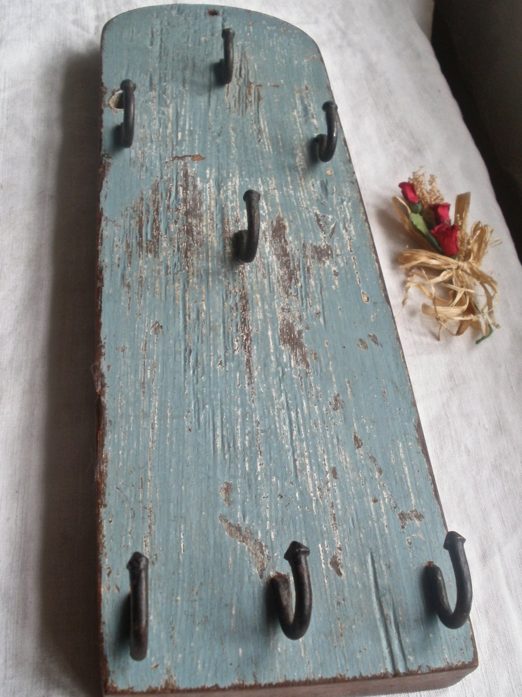 Antique Rustic Key  Jewellery Shelf Dispaly Wooden Home Decor Primitive Home Supplies OOAK