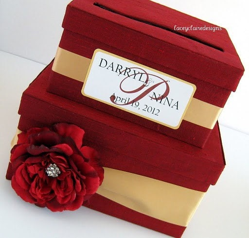 Wedding Card Box Wedding Money Holder Wedding Money Box You customize