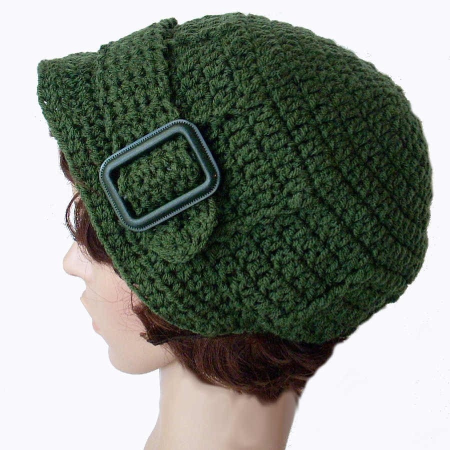 PDF Pattern Crocheted Buckle Hat no 8 by stubbornwoman on Etsy