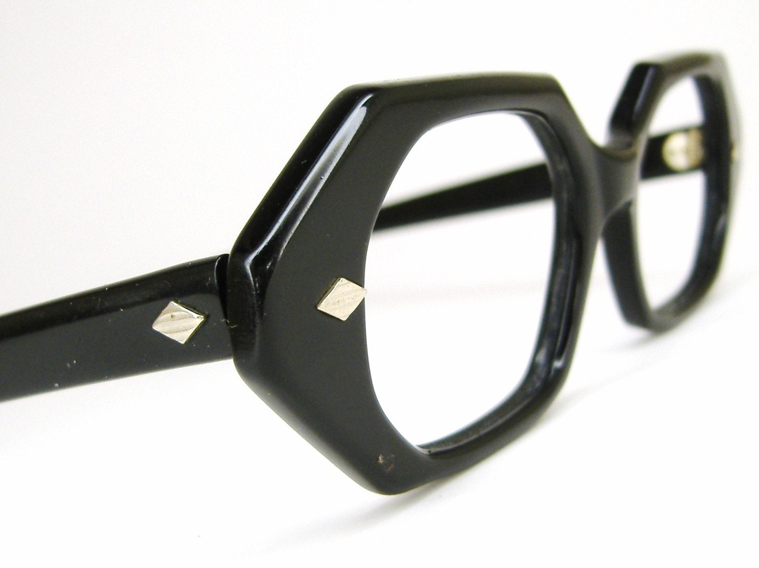 womens vintage black cat eye eyeglasses frame by