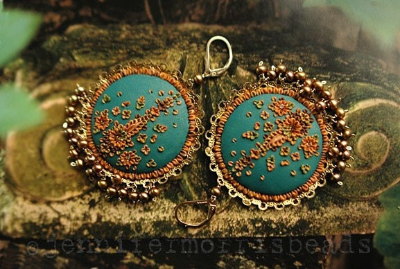 by the teal green sea - little india gypsy earrings