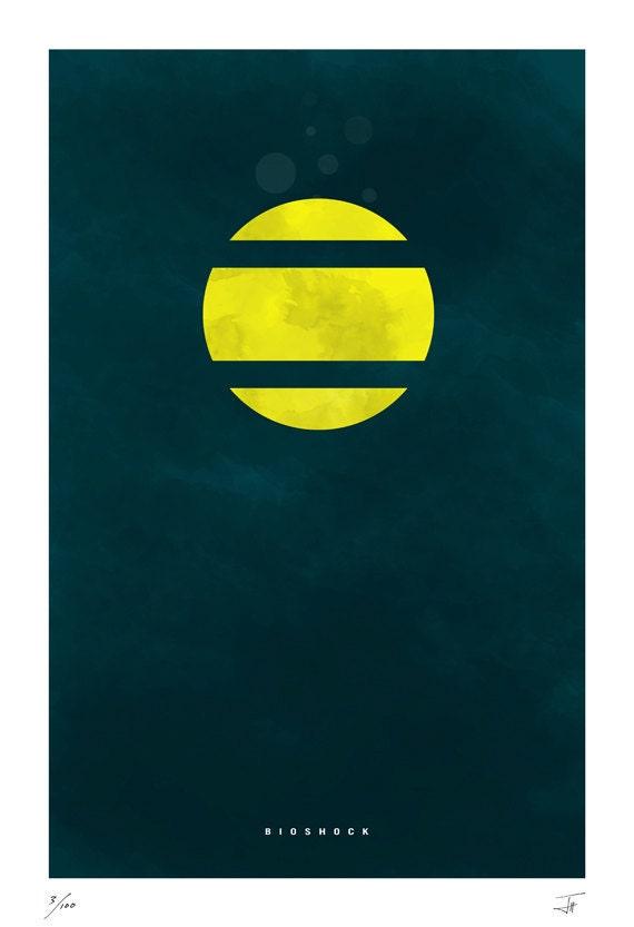 "Bioshock inspired print 11X17"""