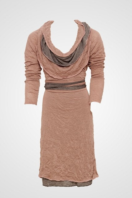 two tone winter dress