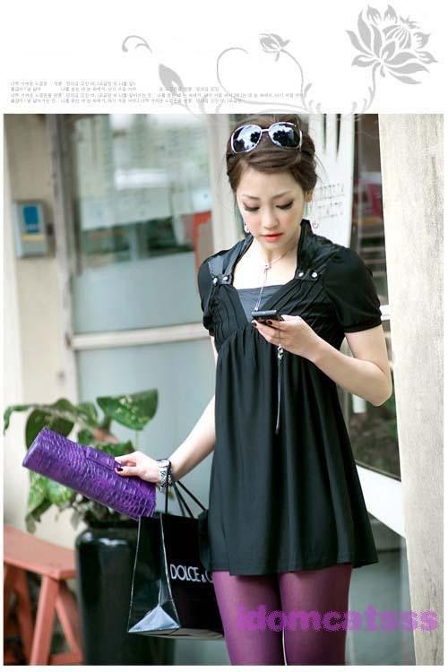sleeveVintage سیاه لباس کوتاه 31
