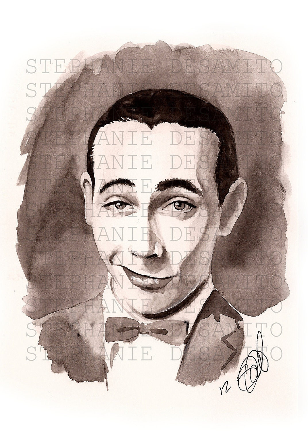 Peewee Herman Watercolor Print - StephanieNuzzolilo