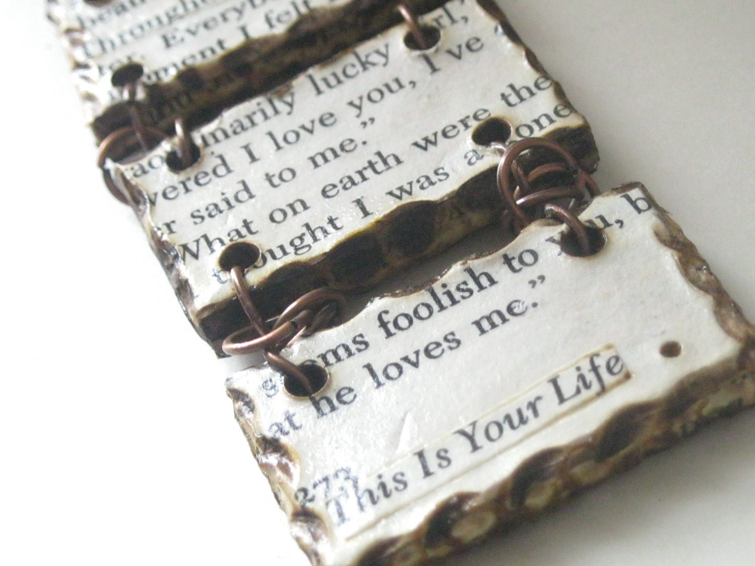 First anniversary gift paper jewelry love letter by