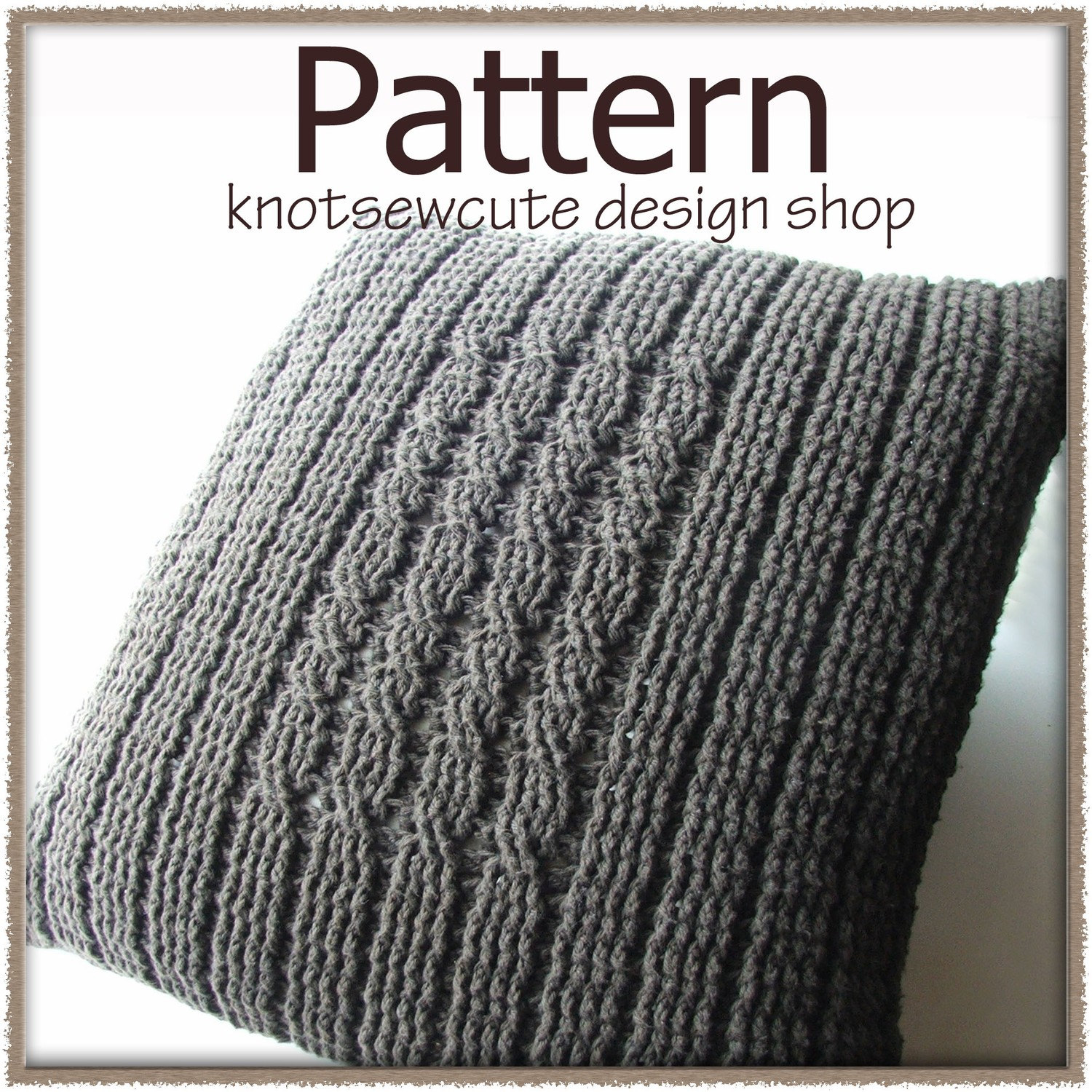 Crochet Stitches For Pillows : Four Post Cabled Pillow Crochet Pattern PDF by knotsewcute