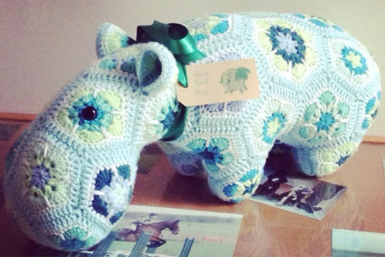 Made to Order  Crochet Hippo MEDIUM
