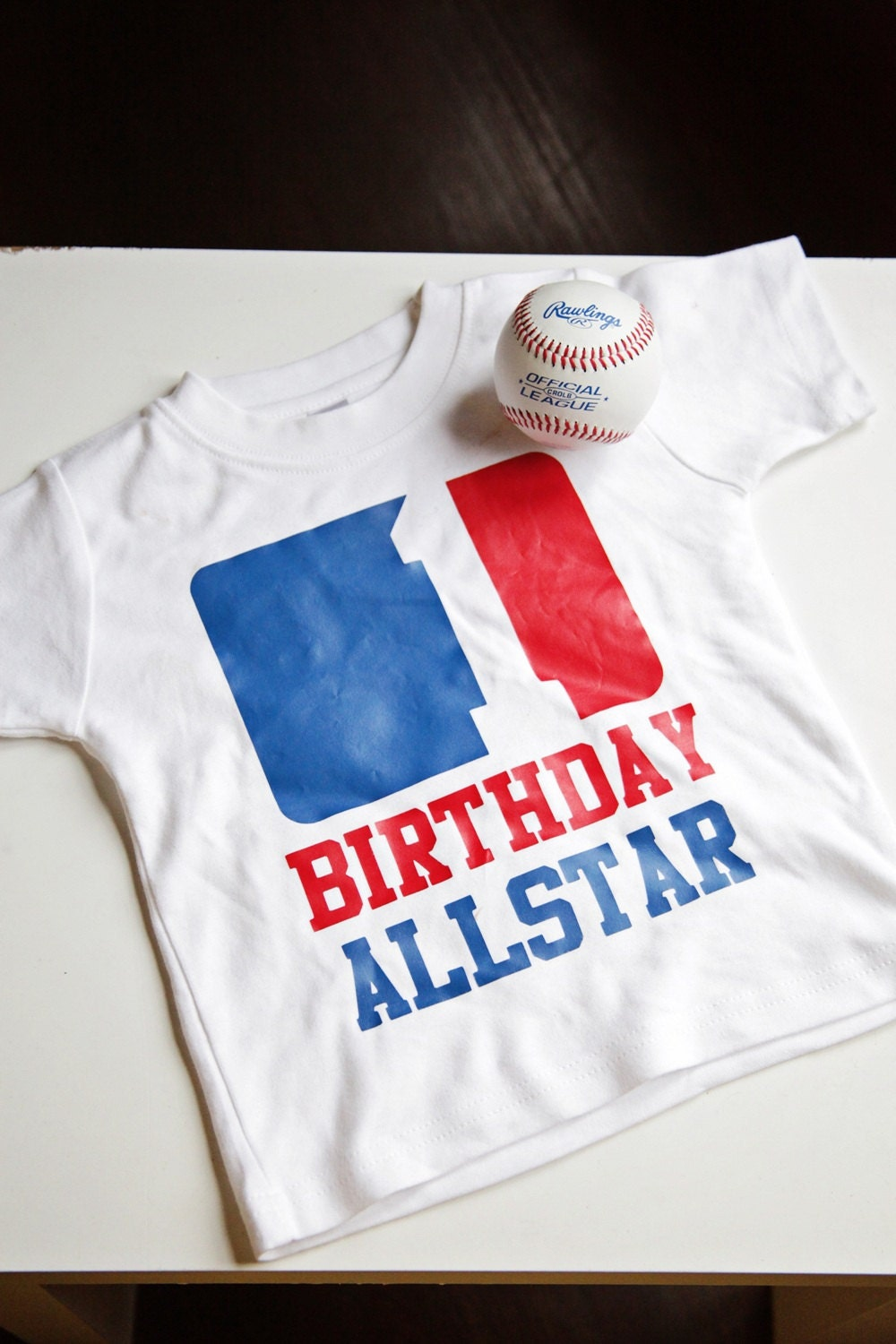 Birthday Allstar - Baseball-Themed Birthday Shirt - Sizes 6m - 5T