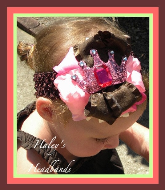 Bow HEADBAND with GYMBOREE TEA FOR TWO 3 6 9 12 18 24 2t 3t 4 5 7