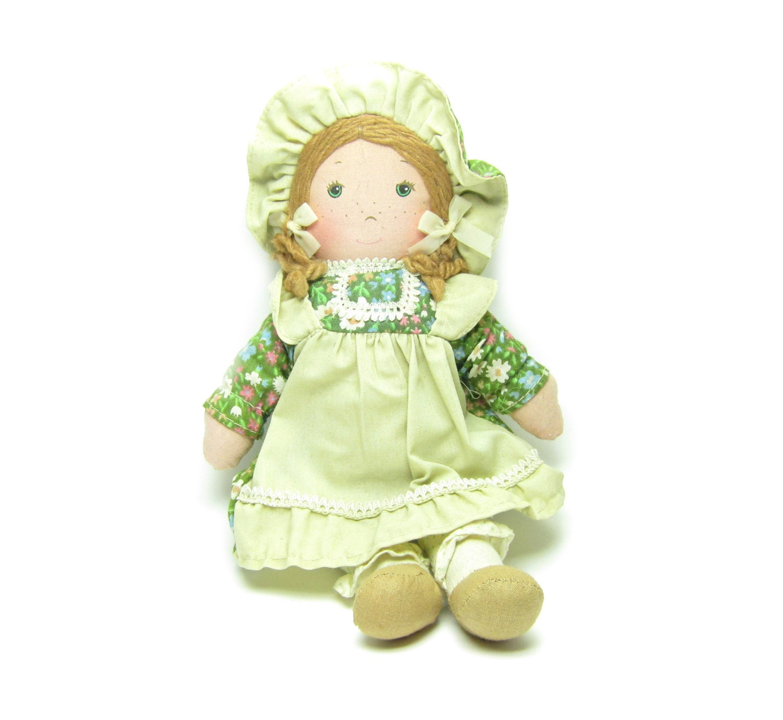 Holly hobbie amy doll vintage rag doll holly hobbie s friend green