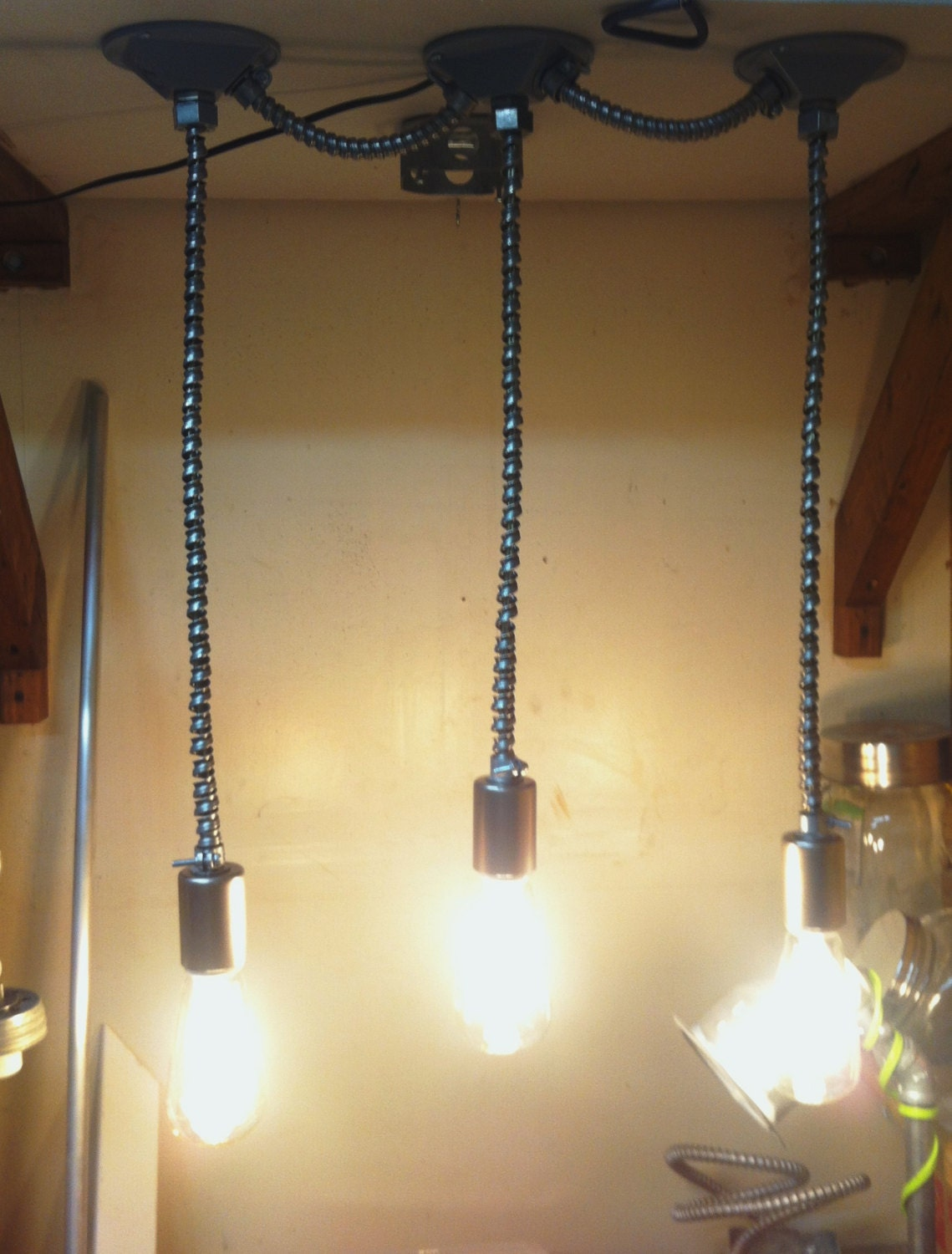 Flex conduit track pendant light very raw rustic by for Very modern lighting
