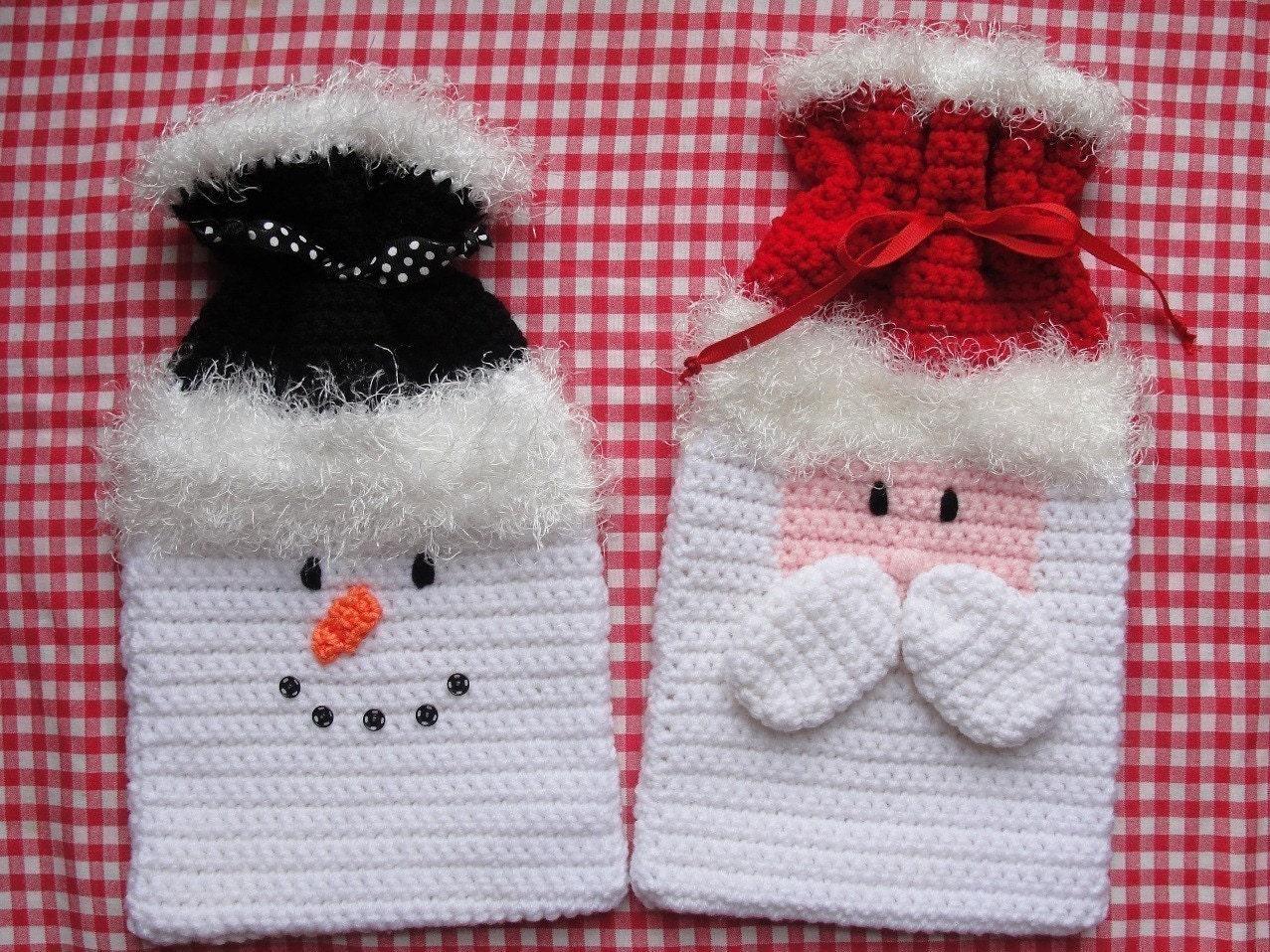 Gift Bags Crochet Pattern Christmas