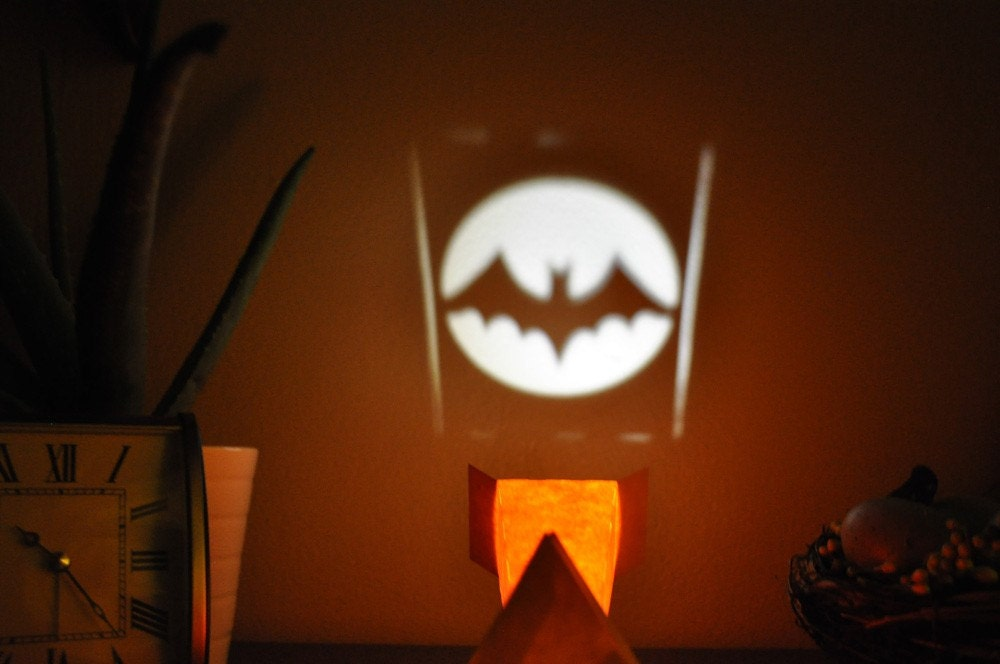 Items similar to Bat Signal Mini Paper LED Light Projector ...