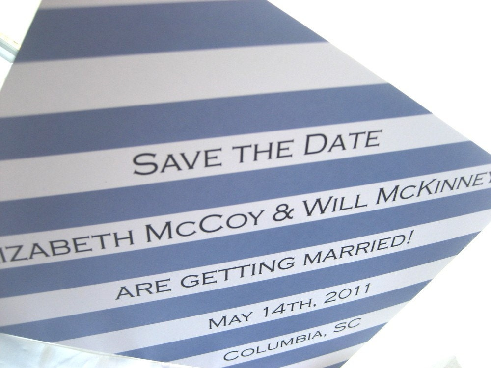 Sample of ELIZABETH striped modern playful save the date