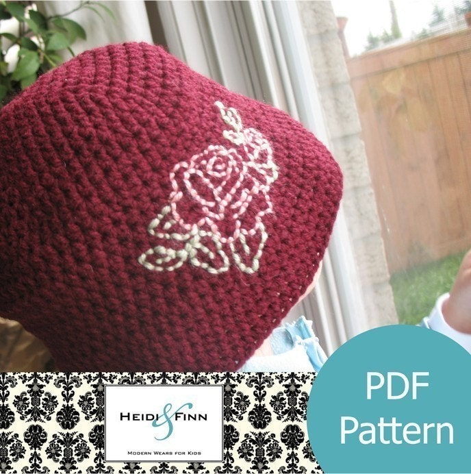 Items similar to Chic Crochet Fall Hat pattern and tutorial PDF 12M-5T ...
