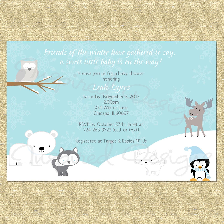 winter friends winter baby shower by littlemunchkinprints