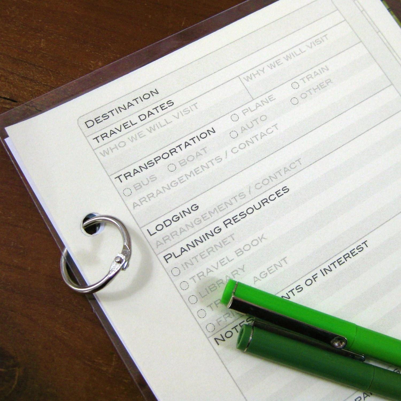 Trip Planning Printables by Crown Bindery on Etsy